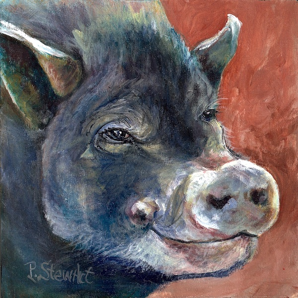 Peaceful Pig Painted by Penny